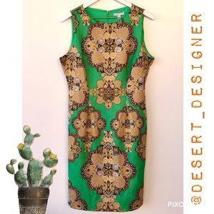 New York & Co Green Jewel Tone Sleeveless Shift L